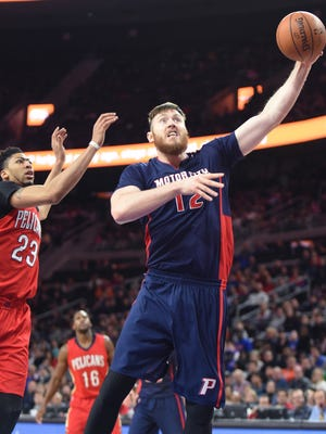 Pistons' Aron Baynes will be making his second Olympics appearance with Australia.