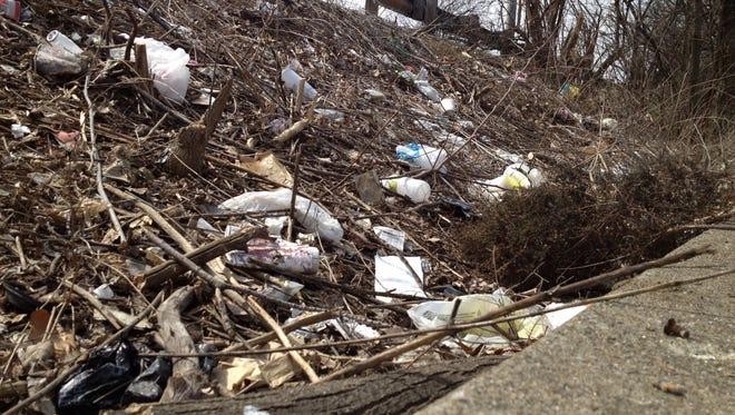 Litter along Wehrman Avenue in Walnut Hills.