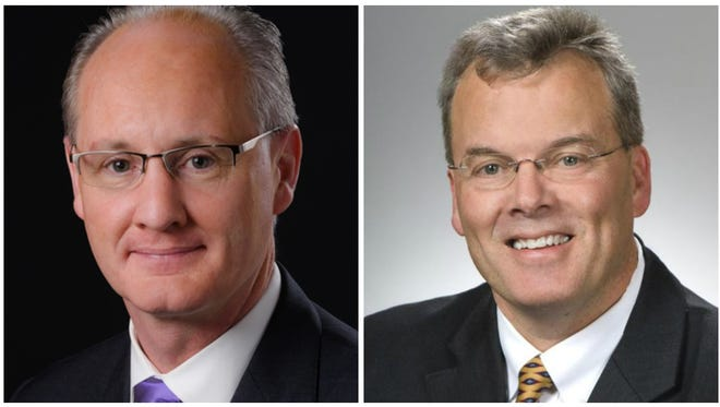 State Sen. Bill Beagle, left, and state Rep. Tim Derickson, right. Both are candidates for Ohio's 8th Congressional District.