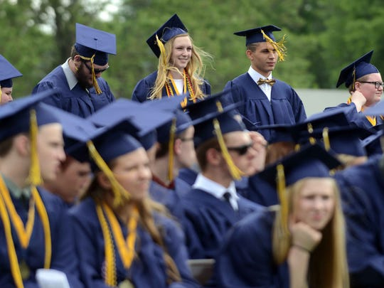 The Lancaster High School graduation ceremony was held Sunday, May 28, 2017, at Fulton Field in Lancaster.