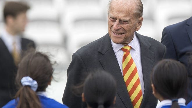 Britain's Prince Philip, the Duke of Edinburgh, is pictured during his visit to Lord's Cricket Ground to open the new Warner Stand, in London.