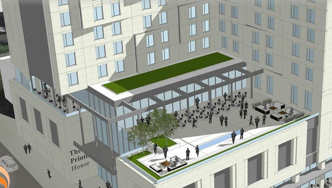 A conceptual view of the Tapestry Collection by Hilton hotel, which is planned at 501 Third Ave. S.