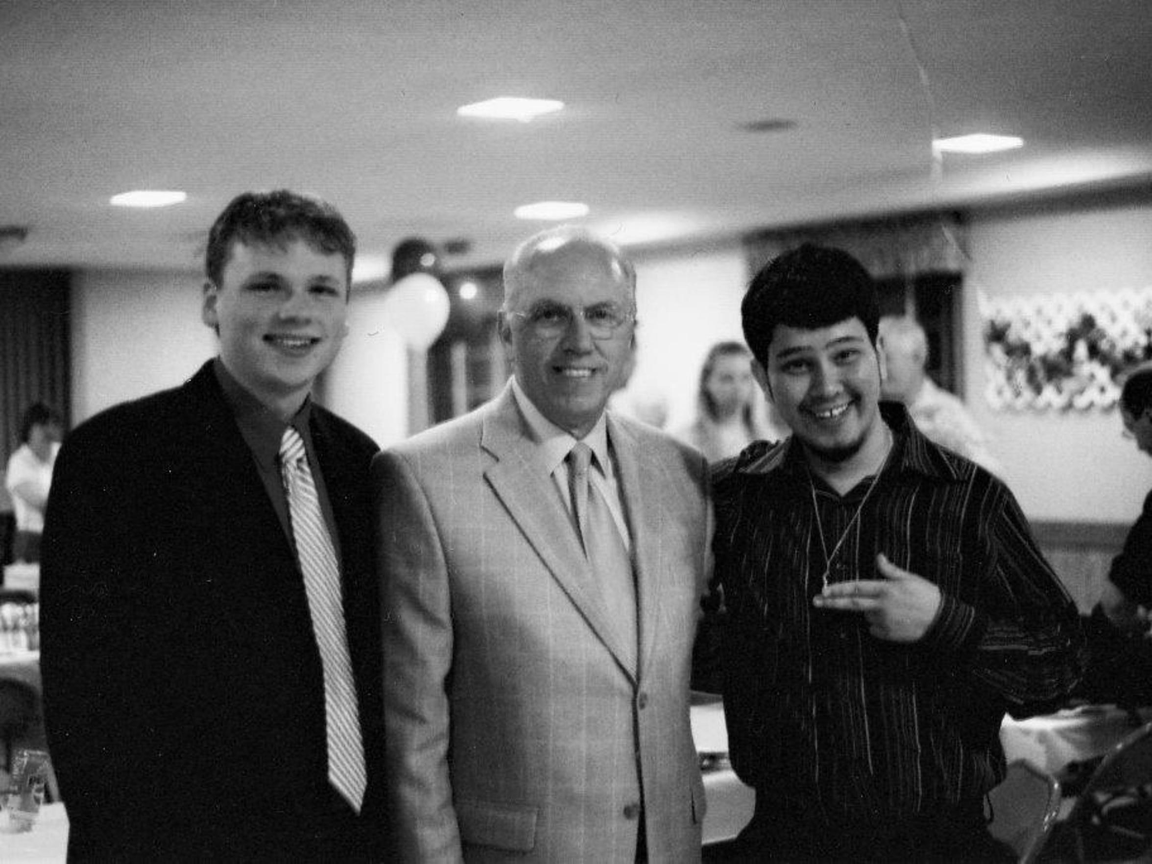 A classmate, Rod Bushey and 2006 Howell High School