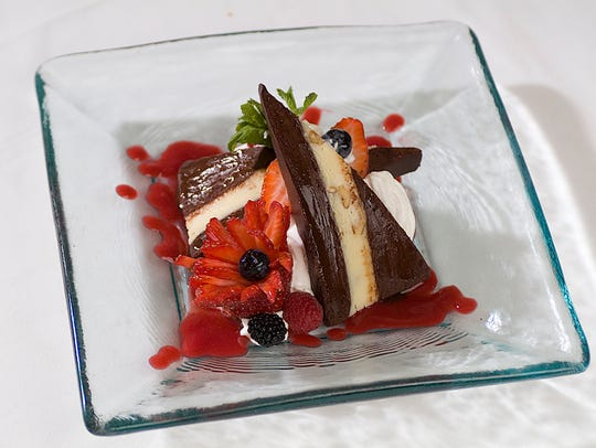 or a decadent dessert, try the triple chocolate pate
