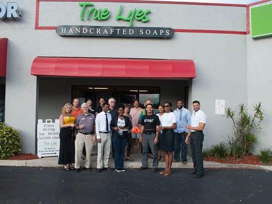 Ribbon cutting at True Lyes Handcrafted Soaps on Dec.