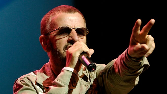 """Ringo Starr performs """"Don't Come Easy"""" on Sunday night at the King Center in Melbourne in 2006.    (Kathleen Hinkel/FLORIDA TODAY)"""
