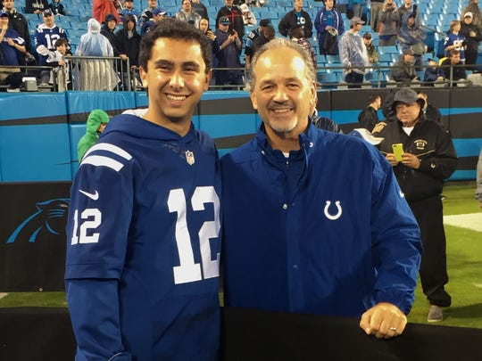 After Alex Kormann's dad died, Colts coach Chuck Pagano became a father figure to him.