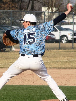 Nate Bunton pitched well during the first three innings of Stevenson's 5-4 victory over John Glenn.
