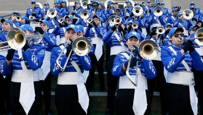 Kentucky's Marching Band during the Cat Walk.