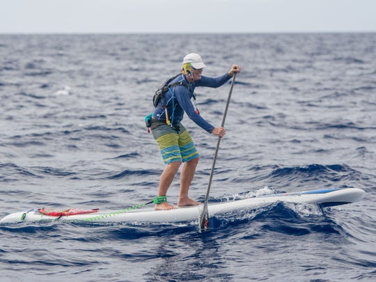 Rob Rogerson, somewhere in the middle of the Gulf Stream