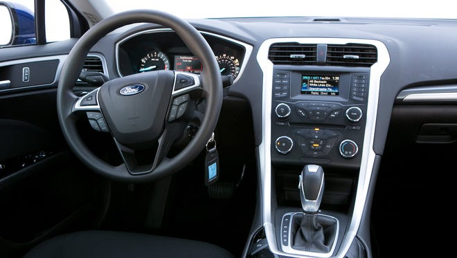 The interior of the Ford Fusion. Ford is using brain waves to design cars