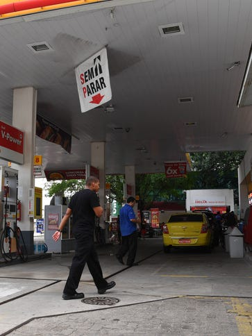 A general view of the gas station where the incident