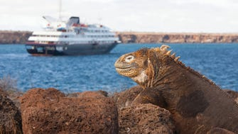 Luxury line Silversea's 100-passenger Silver Galapagos sails year-round in the Galapagos.