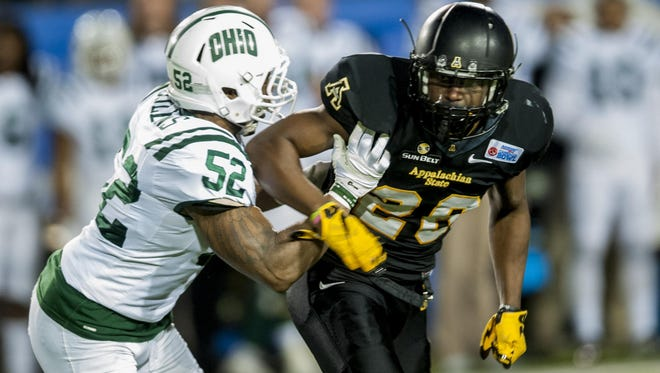 Josh Thomas, a Montgomery Academy graduate, played in last year's Camellia Bowl for Appalachian State. On Saturday, Thomas and the Mountaineers are back in the area to face the Troy Trojans.