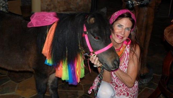 Galiena Jacobs with her miniature Pony.