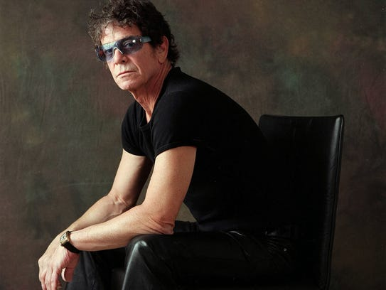 Rock icon Lou Reed, photographed Jan. 17, 2003, in
