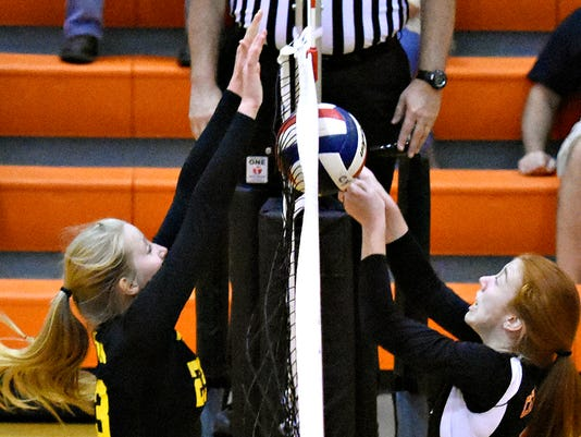 Red Lion vs Central York girls volleyball at Central York High School in York, Pa. on Wednesday, Sept. 23, 2015. Central York would win the game 3-2. Dawn J. Sagert - dsagert@yorkdispatch.com