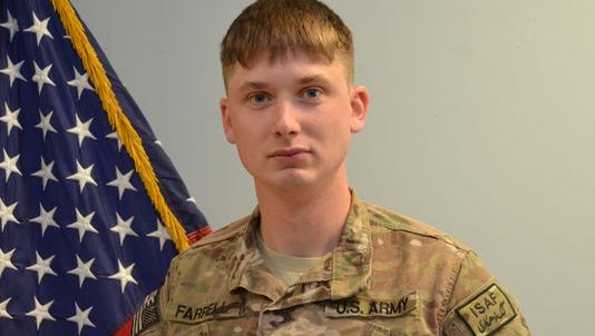 U.S. Army Sgt. Shawn Farrell, a 2008 graduate of Rondout Valley High School in Ulster County.
