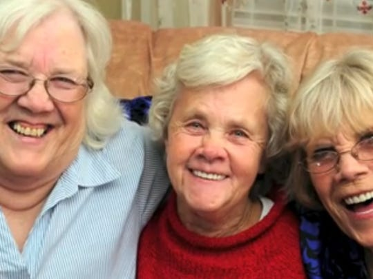 The Grant Triplets were all smiles while celebrating their 70th birthday on Feb. 7, 2014.