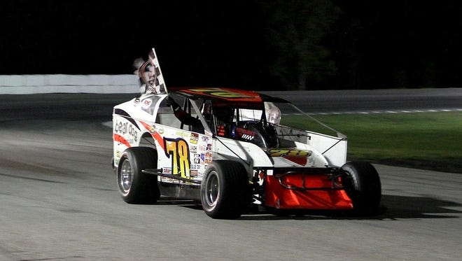 Vince Quenneville Jr. of Brandon, shown here in a file photo, won at Devil's Bowl Speedway in West Haven on Sunday.