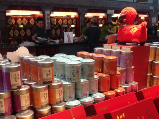 Tins of tea were a common sight in China, said Colleen Cannon, who collects such tins.