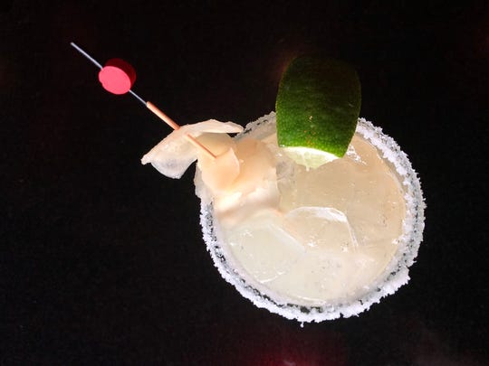 The ginger margarita ($10) at AZN Azian Cuisine in