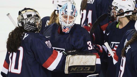 U.S. national hockey team goaltender Alex Rigsby (Photo: Associated Press)