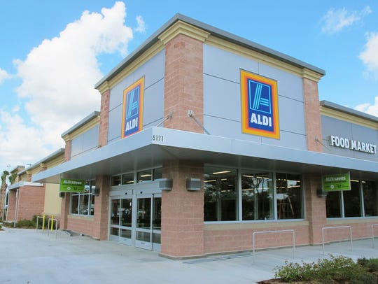 Aldi discount supermarket, which opened its first store