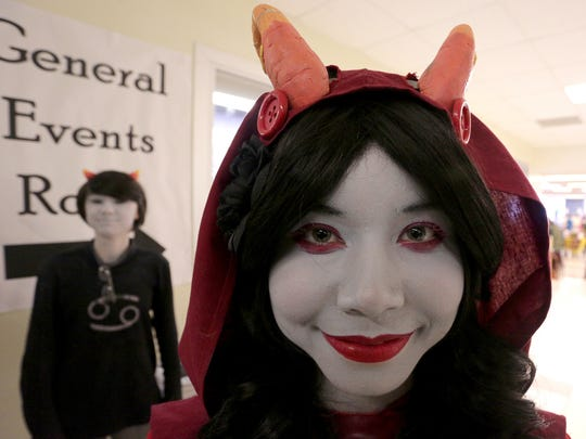 Kiannah Madsen, 15, of Wausau is dressed as the character Aradia Megido at the Evercon gaming convention at D.C. Everest Junior High School in Weston, Saturday, January 11, 2014.