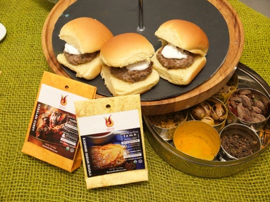 The Grand Summit Hotel's tangy lamb burgers incorporate spice blends from Passion for Spices.