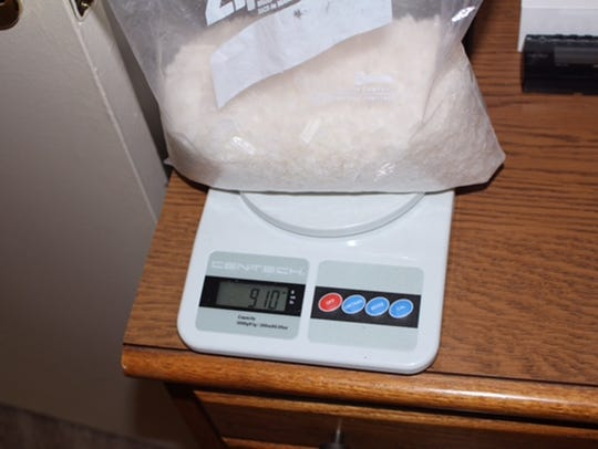 Two pounds of methamphetamine was found at an Oxnard, Calif., residence in this file photo. Officials seized about 2.89 pounds of methamphetamine while executing a state search warrant in April 2016.