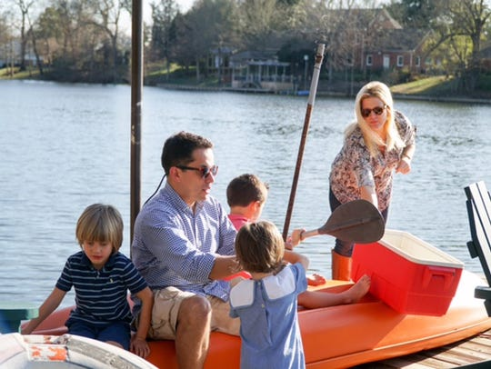 Dr. Alvernia, his wife Courtney, and their three boys