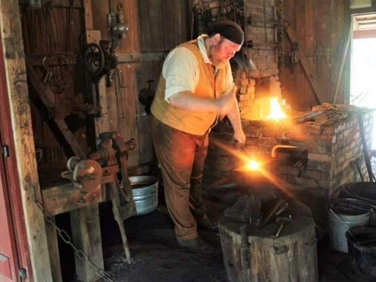 Jay Steiner works a variety of jobs, including smithing