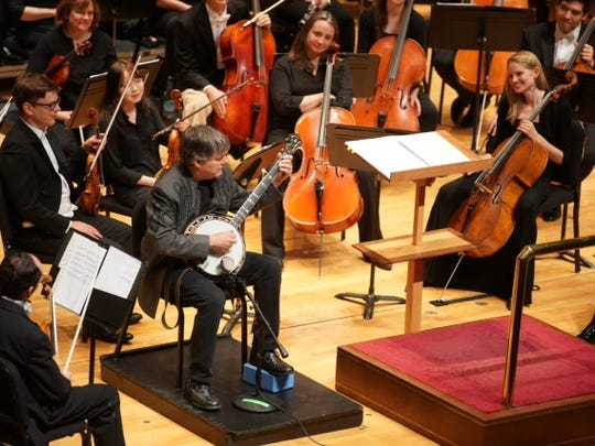 Bela Fleck performs with the Evansville Philharmonic Orchestra Saturday.