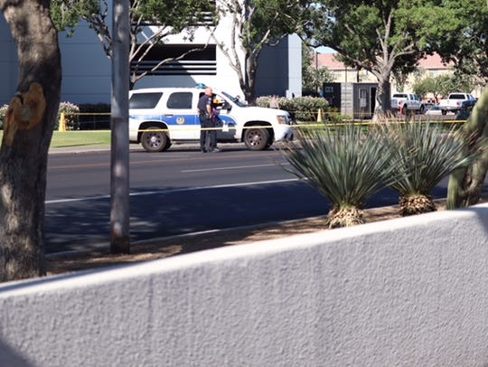 A Phoenix police officer shot a combative suspect during