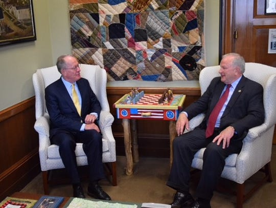 Sen. Lamar Alexander sits down June 12 in Washington
