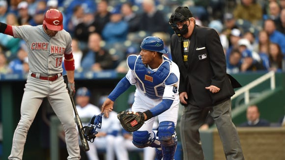 Royals catcher Salvador Perez leads the American League All-Star voting.