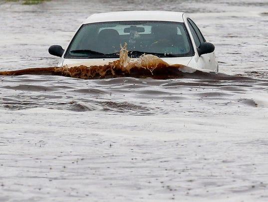 Record rainfall swamps Phoenix