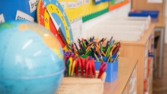 Stock photo of classroom, unrelated to kindergarten class from story.