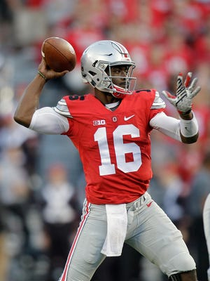 Expect J.T. Barrett to have a big week as he takes over the Ohio State quarterback job this week.
