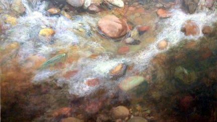 """Paul Hotvedt's """"Gila River Falls,"""" pictured, is one of the paintings included his upcoming """"Landscapes"""" exhibit at WNMU's McCray Gallery."""