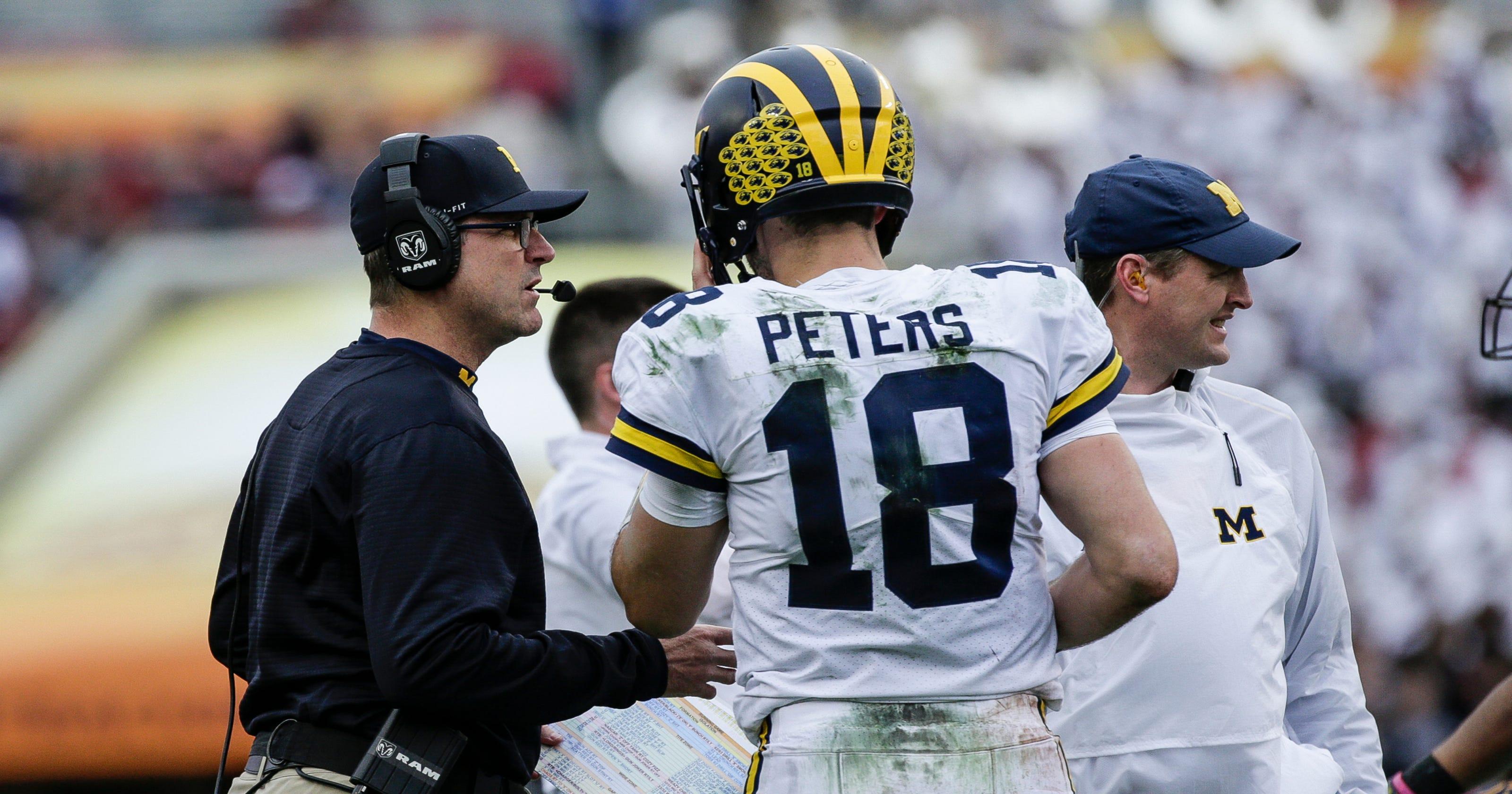 fa4d0d19ca2 Michigan football's Brandon Peters focused on fighting for QB spot