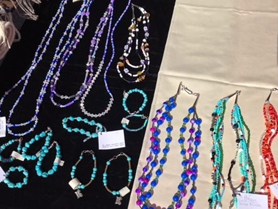 Angie Bernard also sells jewelry, some are collarborations