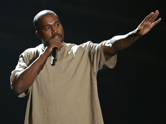 Kanye West, shown accepting the video vanguard award