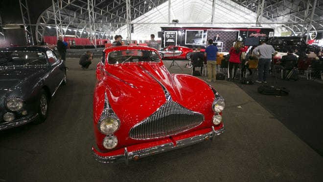 The 1951 Talbot-Lago T-26 Grand Sport Saoutchik is just one of the cars that will be for auction at the Barrett-Jackson car auction as seen during a preview at Westworld of Scottsdale on Tuesday, January 9, 2018. The auction is held January 13-21 at Westworld of Scottsdale.