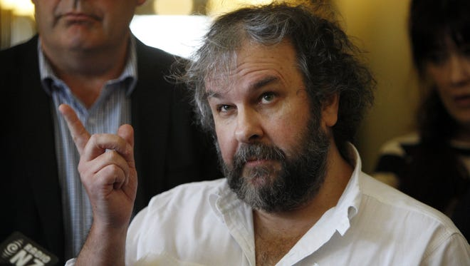 """Peter Jackson talks to reporters at an event to promote the New Zealand film industry on Wednesday, Jan. 14, 2015, in Wellington, New Zealand. Jackson said he's getting some much-needed rest after completing his """"Hobbit"""" trilogy."""