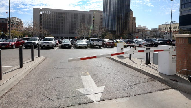 The high-rise project would be built on the 1.5-acre parking lot at Mills Avenue and Kansas Street across from City Hall in Downtown El Paso.