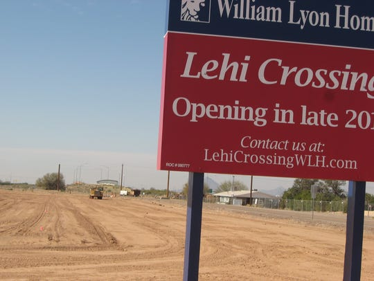Mesa's Lehi Crossing neighborhood when it was under