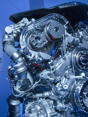 The Cadillac CT6 V6 Twin Turbo Powertrain is shown