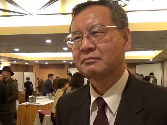 Yoshiro Okamoto, vice chairman of the Japan Sake and